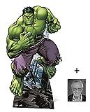 BundleZ-4-FanZ Fan Packs Der unglaubliche Hulk Lebensgrosse Pappfiguren/Stehplatzinhaber/Aufsteller - Marvel The Avengers Super Hero - Enthält 8X10 (25X20Cm) starfoto