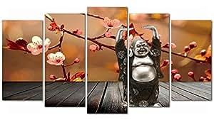 DekoArte Tableau moderne Bouddha zen 137 150 x 80cm