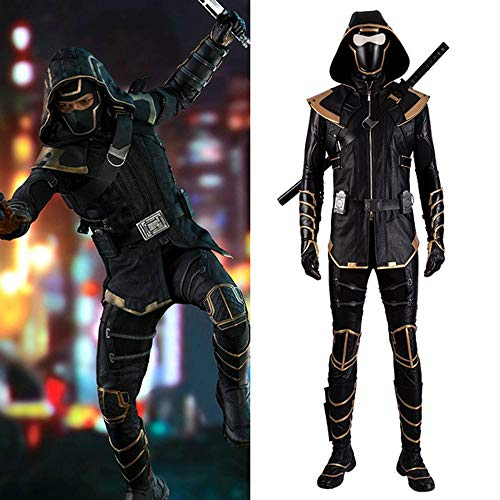 Lydia's Anime Vestiti Cosplay Hawkeye Ronin Versione Cosplay Costume Avengers 4 Stampa Stretto Natale Halloween Fancy Dress per Abbigliamento per Adulti with Shoes-Man-S