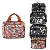 Baosha XS-09 - Beauty case da viaggio con tasche multiple Multicolore Stampa multicolore Hs L