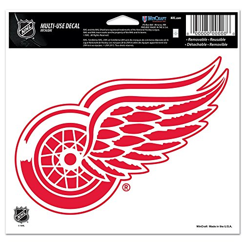 Nhl Poster Shop (Wincraft NHL Detroit red Wings Multi-Use-farbige Aufkleber, 5