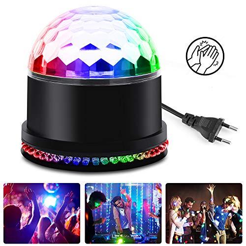 vitutech LED Discokugel, Discolicht Lampe Discolampe Partyleuchte Bühnenbeleuchtung RGB Lichteffekt mit Musik Stimme Steuerung Deko für Partei, Geburtstagsfeier, DJ, Bar, Weihnachten