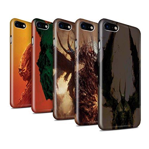 Offiziell Chris Cold Hülle / Glanz Snap-On Case für Apple iPhone 7 / Flügel von Nox Muster / Wilden Kreaturen Kollektion Pack 6pcs