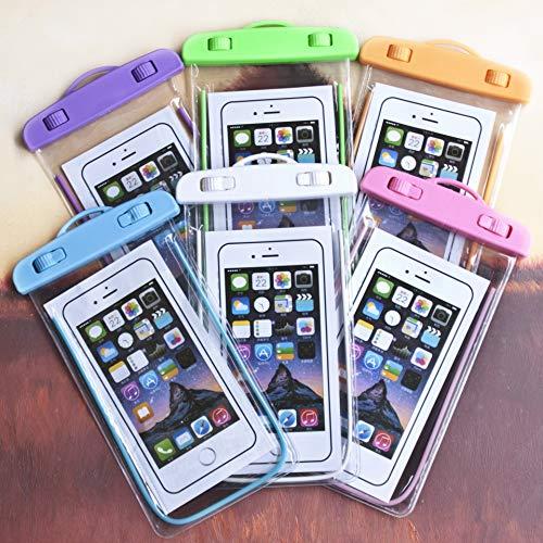 Kanggest.Luminoso Transparente Bolsa Estanca Universal para Natacion Fuente Termal Bucear Funda Impermeable para para iPhone Impermeable Funda Playa para Movíl Universal