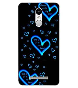 ColourCraft Lovely Heart Pattern Design Back Case Cover for XIAOMI REDMI NOTE 3 PRO