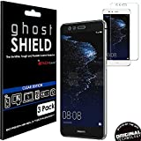 TECHGEAR [3 Stück Displayschutz Kompatibel mit Huawei P10 Lite - [ghostshield] Genuine verstärkte TPU Displayschutzfolie Guar