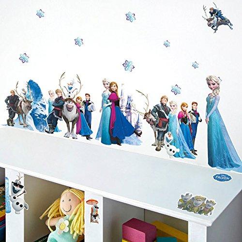 Smart Art Disney Frozen Wall Sticker Elsa Snow Queen Wall Decals Wanddekorationen Tapete zum Schlafzimmer zu Hause DIY-Design (Elsa Frozen Queen Snow)