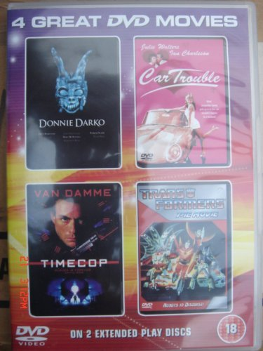 4 Great DVD Movies Set : Donnie Darko / Timecop / Transformers The Movie / Car Trouble by Drew Barrymore