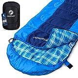 Deckenschlafsack für Outdoor und Camping. Kompakt und warm - Schlafsack ideal für Trekking. Komfort im Herbst bis 10 °C. Survival Sleeping Bag. 220x75 cm