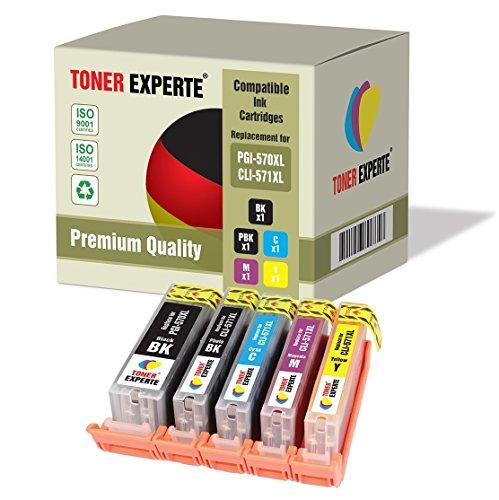 Pack 5 XL TONER EXPERTE® Compatibles PGI-570XL / CLI-571XL Cartouches d'encre pour Canon Pixma MG5750, MG5751, MG5752, MG5753, MG6850, MG6851, MG6852, MG6853, MG7750, MG7751, MG7752, MG7753, TS5050, TS5051, TS5053, TS5055, TS6050, TS6051, TS6052, TS8050, TS8051, TS8052, TS8053, TS9050, TS9055