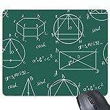 Yanteng Figura geométrica Figura Tridimensional Matemáticas Ciencia Fórmula Cálculo Rectángulo Antideslizante Caucho Alfombrilla