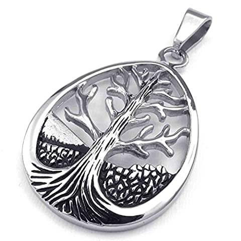 AnaZoz Fashion Jewelry Simple Personality Life Pendant Necklace Tree of