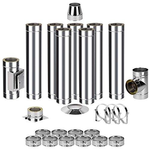 EASY kit de montage pour cheminée en acier 0–6 8,2 m