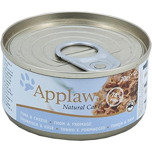 Applaws Katze Dose Thunfischfilets & Käse, 24er Pack (24 x 70 g)
