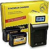 LCD Cargador de Batería + 2x Batería NP-FW50 para Sony CyberShot DSC-RX10 II   ILCE-6000 (?6000)   ILCE-QX1   Sony NEX-C3   NEX-F3   NEX-3   NEX-3A   NEX-3D   NEX-3K   NEX-3N   NEX-5A   NEX-5D