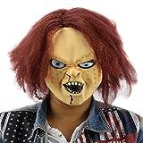 Chucky the killer doll killer mask Tête de masque en latex très haute qualité avec des ouvertures pour les yeux Carnaval de carnaval carnaval costume carré pour adultes hommes et femmes femmes hommes effrayant creep zombie monstre démon horreur partie