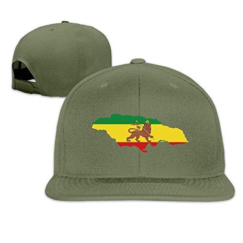 Wdskbg Rastafarian Flag Haile Selassie Flag Flat Baseball Cap Individuality -