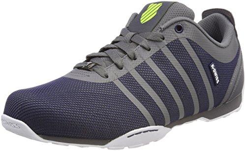 K-Swiss Herren Arvee 1.5 Tech Sneaker, Grau (Charcoal/Navy/Neon Citron), 42.5 EU (Schuhe Citron)