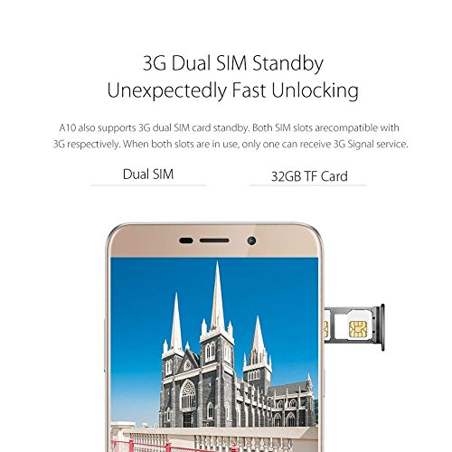 Smartphones sin Contrato  Blackview A10  metal Unibody       5  Inch Android 7 0  3  G Smart Phone Quad Core 1 3  GHz 2  GB   16  GB  5  MP   8  MP  d