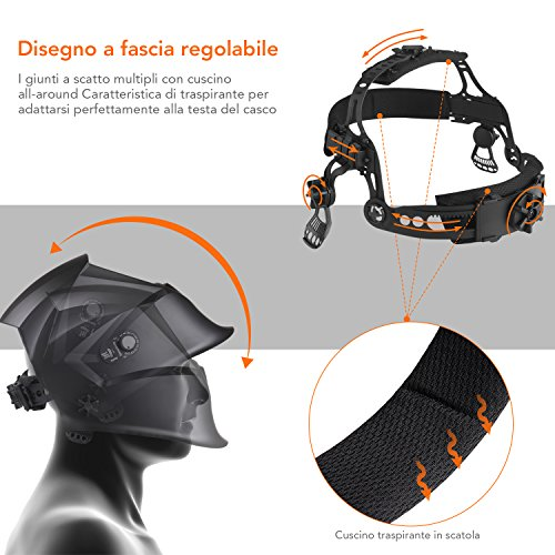 Zoom IMG-3 casco di saldatura tacklife pah04d