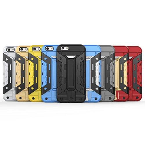 iPhone 6S Plus Hülle, iPhone 6 Plus Hülle, Lifeturt [ Gelb ] 2 Layer Hybrid Combo Innere Weiche Silikon Hart Plastik Anti-stoß Schutzhülle Tasche Case Cover für Apple iPhone 6S Plus/6 Plus E02-Rotes Gold