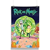 RedWolf Rick And Morty TV Series Wall Poster Season One | Wall Decor Poster For Home, Living Room And Office| [Frame Not Included] Size A3 [12 X 18 Inches]