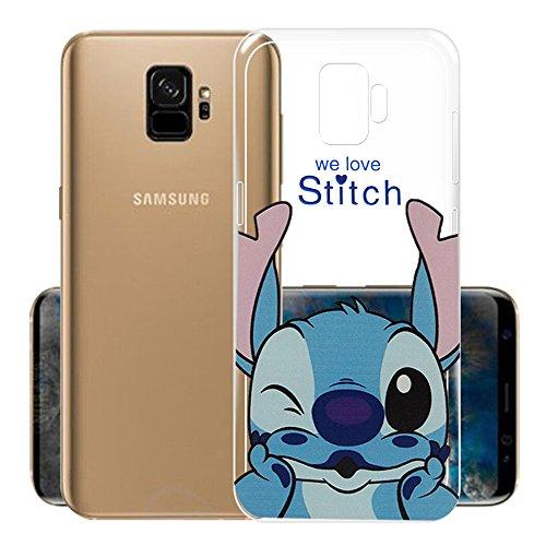 ShopInSmart® Transparente Silikon TPU Handy Schutzhülle mit Motiv Cartoon Disney Fröhliche Weihnachten! für Samsung Galaxy S9 5.8