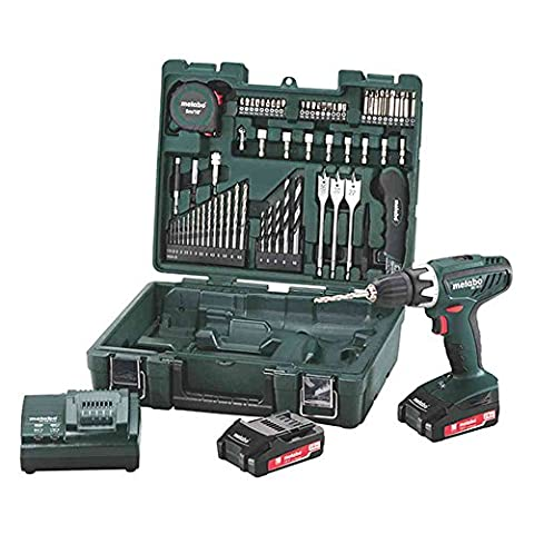 METABO BS18LI Perceuse Visseuse 18V, 2Ah Li(2 batteries) + 65