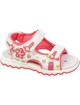 GIBRA® Sandalen für Kinder, mit Lederfußbett, weiß/lachs, Gr. 26-31