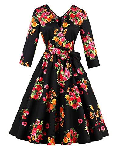 244e8362026a Prezzo Baihuodress abiti da donna vintage anni  50 con stampa floreale