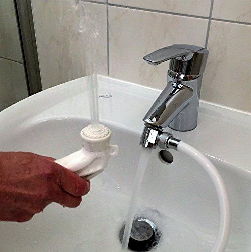 Hygienedusche, Intimdusche, selbstmontierbares Minibidet als preisgünstiger Ersatz für klassisches Einbaubidet.
