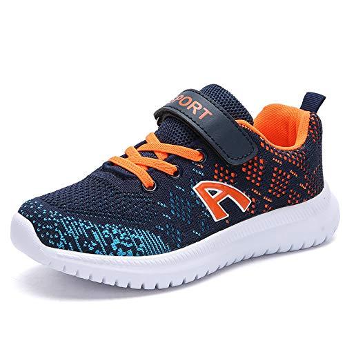 Scarpe per Bambini Calzature Sportive Sneakers Scarpe da Camminata Scarpe da Bambino Sneakers Running Sport Shoes Running Shoes for (EU 34, A /// Blu Scuro)