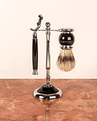 Artemis MACH 3 Shaving Gift Set - Black Razor & Shaving Brush - SHV117