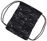 Herren Damen Kinder Unisex echtem Nike Graphic Gym Sack Pack Zubehör (schwarz/weiß, N) -