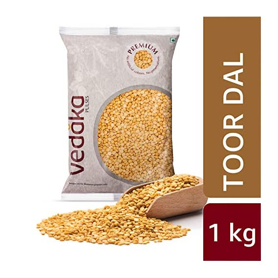 Amazon Brand - Vedaka Premium Toor/Arhar Dal, 1 kg