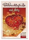 Weihnachtsgrüße mit Herz: Postkartenbuch