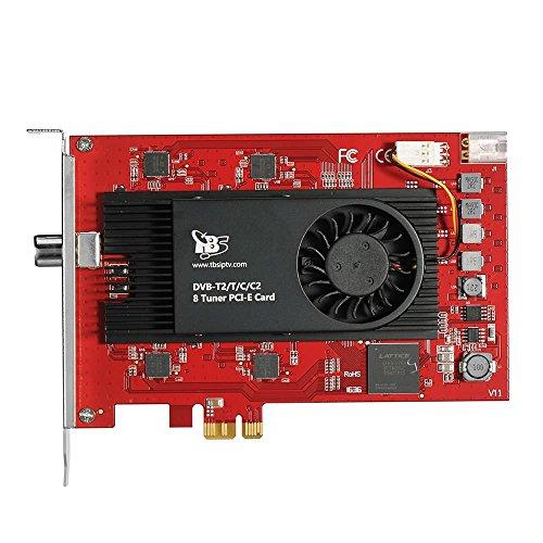 TBS-6209 DVB-T2/C2/T/C/ISDB-T Octa-Tuner, PCIe Terrestrische- oder Kabel-TV-Karte