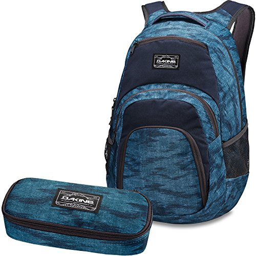 DAKINE 2er SET Rucksack Schulrucksack Laptoprucksack 33l CAMPUS LG + SCHOOL CASE Mäppchen Stratus