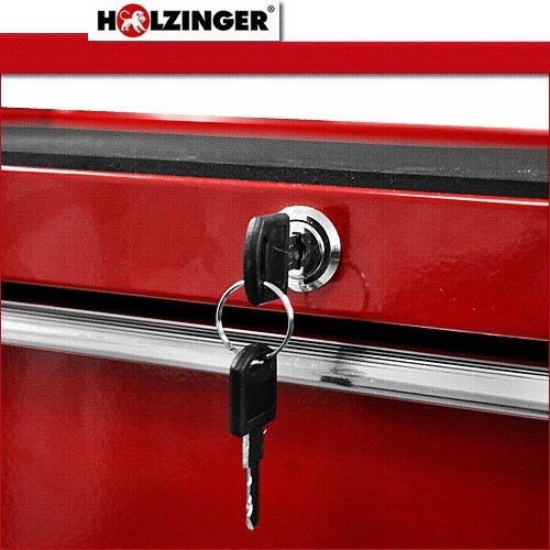 Holzinger Werkzeugwagen HWW1005KG - kugelgelagert (5 Schubfächer) - 6