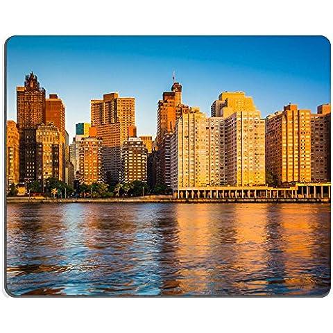 MSD-Tappetino per mouse in gomma naturale, gioco foto ID: 31128079 Morning light la vista panoramica di Manhattan, New York, Isola di Roosevelt