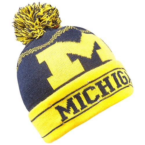 Forever Collectibles NCAA Michigan Wolverines Strickmütze mit LED-Bommel, Einheitsgröße, Gelb