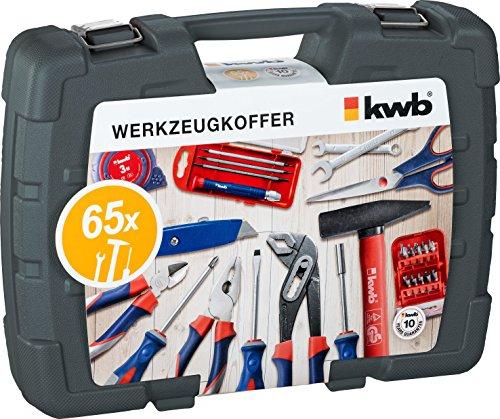 kwb Werkzeugkoffer 370730 (65-teiliger Inhalt, ideal für den ambitionierten Hausgebrauch, im praktischen Kunststoffkoffer) - 2