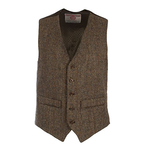 Harris Tweed Herren Weste Gr. 48/Regulär, C001YM