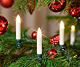 30-er Set LED Weihnachtskerzen Elfenbein/Creme, Dimmbar, Flackermodus - kabellose Weihnachtsbaumbeleuchtung für Innen- und geschützten Außenbereich