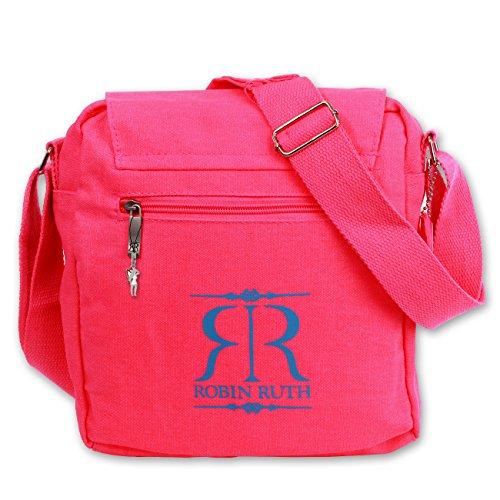 Robin Ruth , Borsa Messenger Grigio (Ueberschlag klein NY Pink)