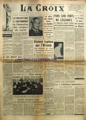 CROIX (LA) [No 22412] du 19/09/1956 - CONFERENCE D...