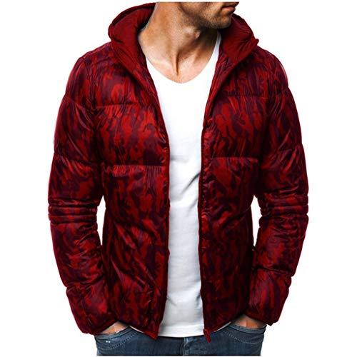 Luckycat Herren Camouflage Zipper Wolle Bluse Verdickung Mantel Pullover Outwear Top Bluse Winterjacke Steppjacke Daunenjacke Parka Mäntel...