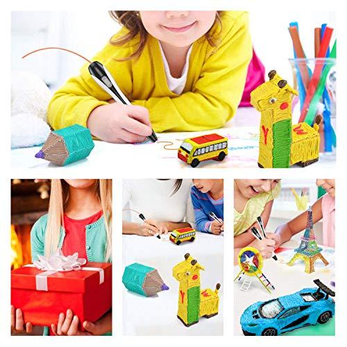 3D Stifte, für Kinder Erwachsene Anfänger mit PLA Filament 12 Farben -【Neueste Version 2019】Lovebay 3D Stifte Set mit PLA Farben 120 Fuß, 3d pen Starter Set als kreatives Geschenk, Bastler zu 3D kritzeleien, malen, basteln und drücken - 7