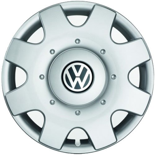 Original VW Radkappen (4 Stück) Komplettsatz 16 Zoll Radzierblenden Golf Touran Jetta Sportsvan Caddy Stahlfelgen Kappen Abdeckung Chrom Silber 1T0071456A (Vw Jetta Radkappen)
