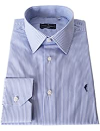 DOMENICO AMMENDOLA Camicia Firenze in Puro Cotone Egiziano, Regular Fit, Made in Italy (41)